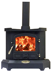 The Corner Solid Fuel Stove by Bubble Products, Harworth, Doncaster.